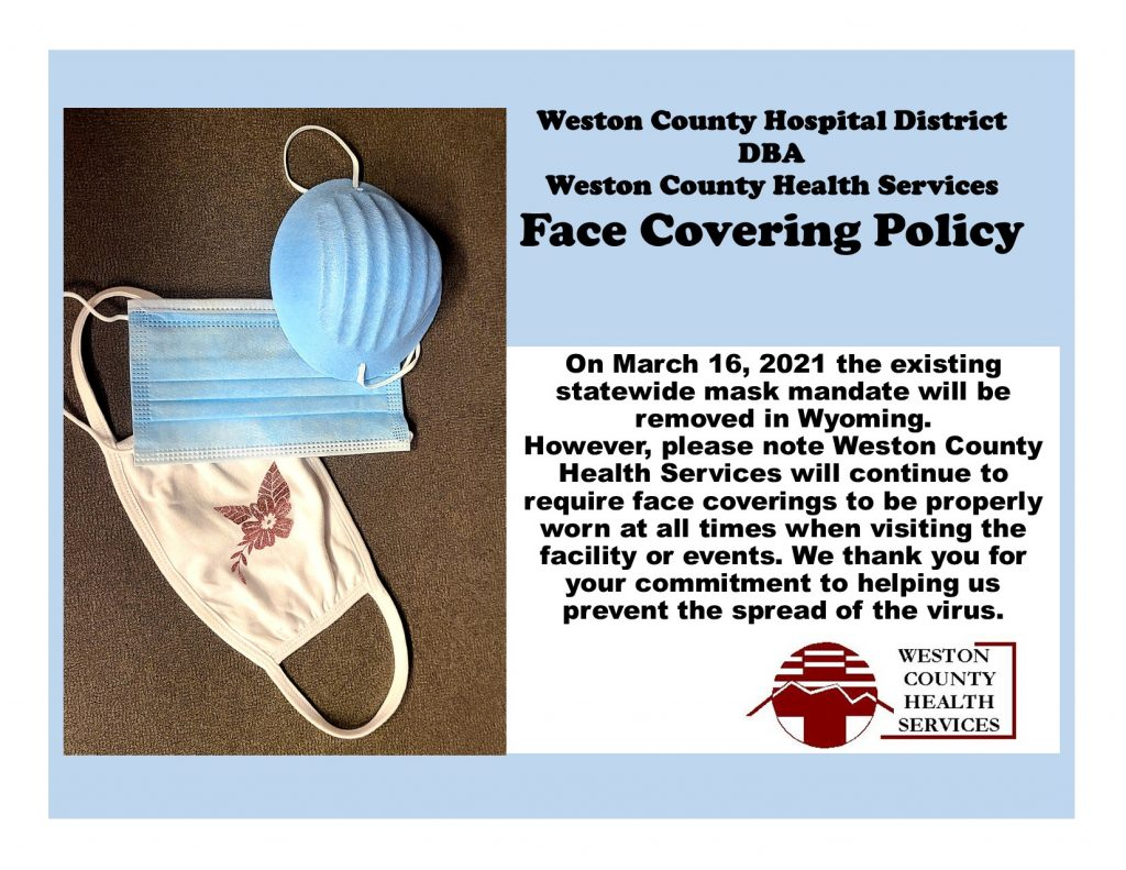 WCHS Face Covering Policy
