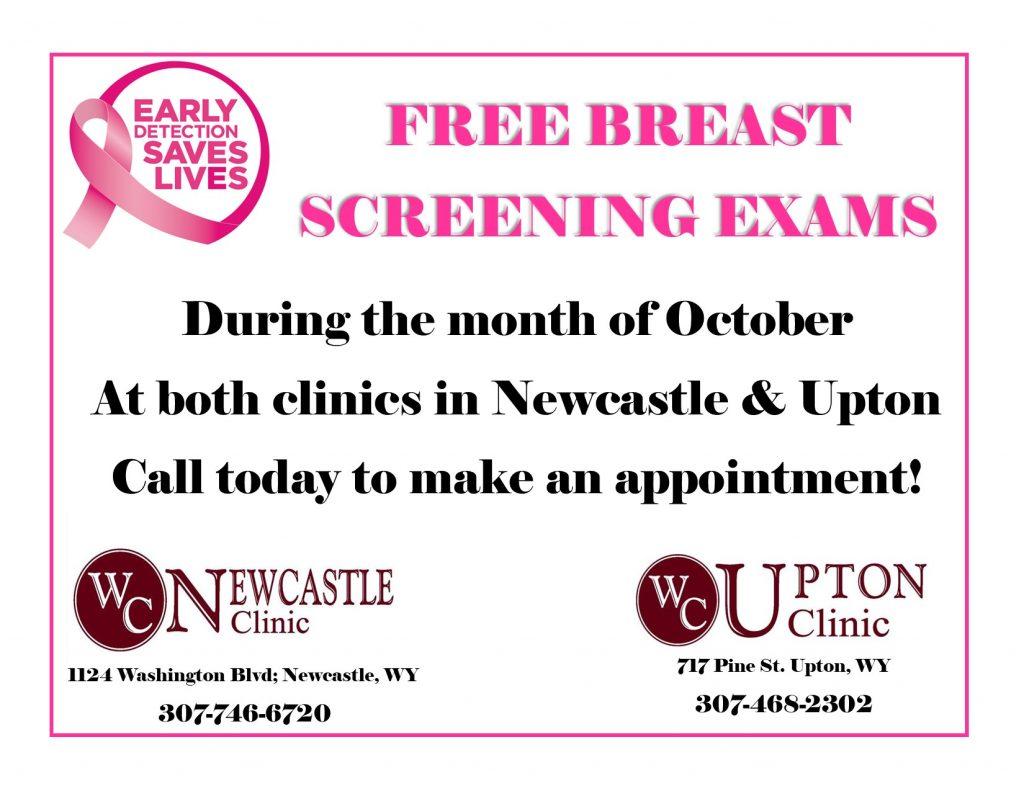 Free Breast Screening Exams in October